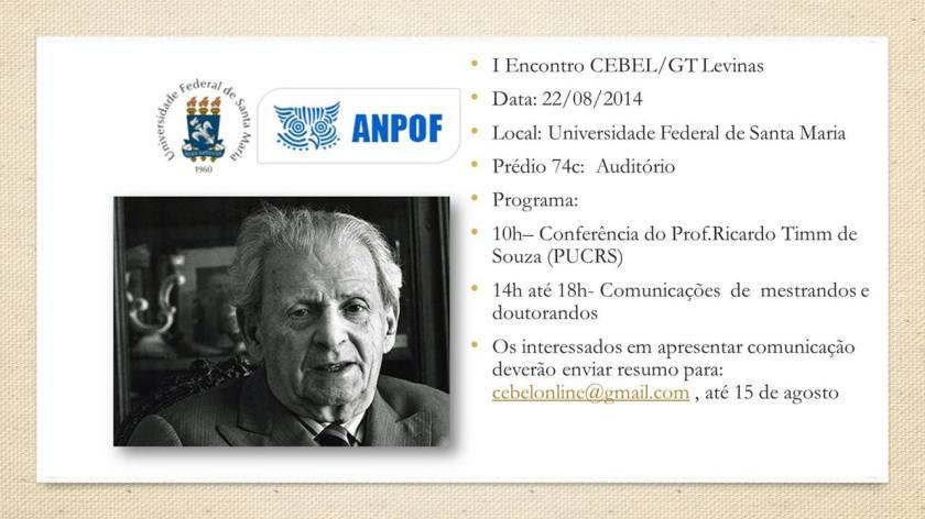 I Encontro CEBEL/GT Levinas